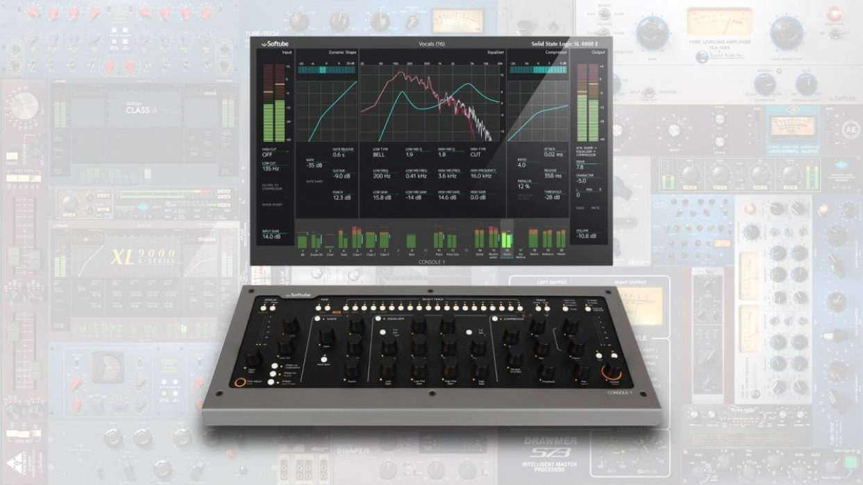 Softube announces availability of Console 1 Mk II with UAD Powered Plug-Ins support