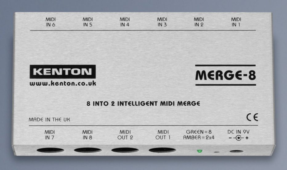 Kenton makes managing multiple data streams simpler with eight-input intelligent MIDI merge unit