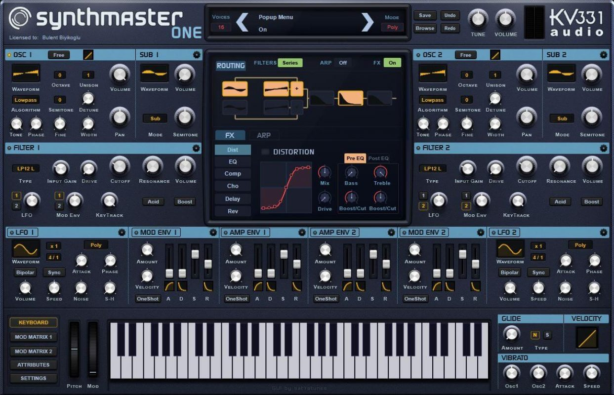 KV331 Audio updates their wavetable synthesizer SynthMaster One to version 1.0.4: Adds UI Scaling and Retina Support