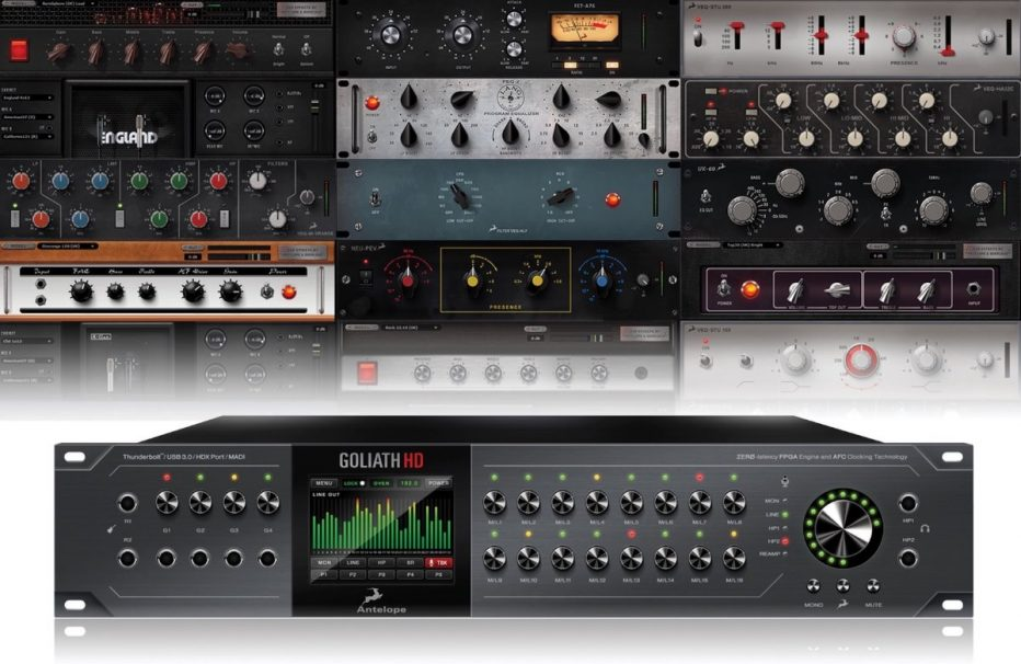 Antelope Audio announces availability of Goliath HD heavyweight pro audio interface flagship