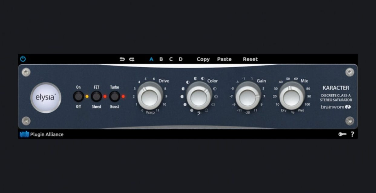 Plugin Alliance adds karacter to DAW domain with exacting emulation of elysia stereo saturator