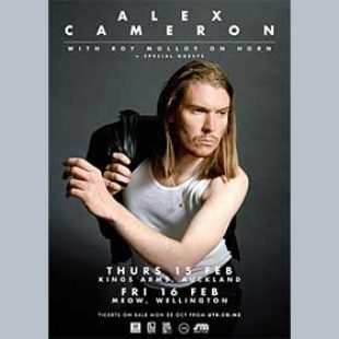 Alex Cameron with Roy Molloy