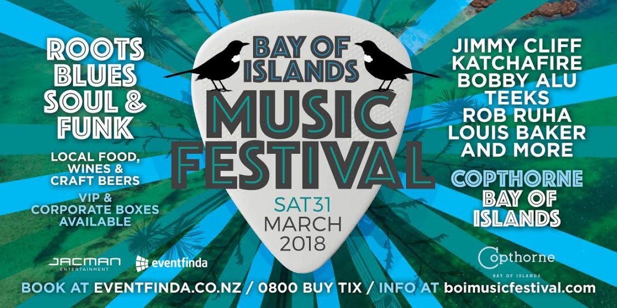 JIMMY CLIFF TO HEADLINE THE INAUGURAL BAY OF ISLANDS MUSIC FESTIVAL